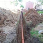 глубина канавы для трубопровода к септику 150 см