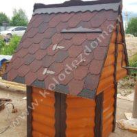 колодец для дачи домик из дерева
