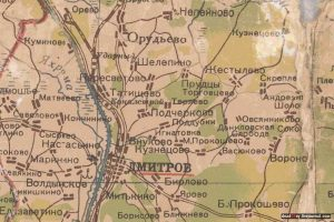 Карта Дмитровский район