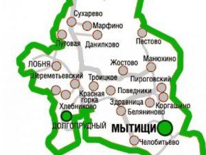 Карта Мытищинский район