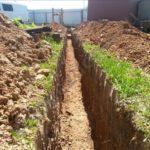 копаем траншею для канализации