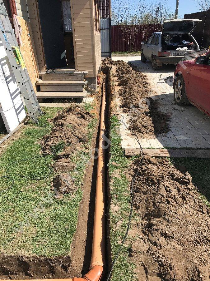 септики из клец отвод канализации от дома