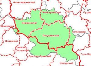 Карта Киржачский район