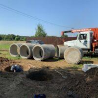 копаем шахту под двухкамерный бетонный септик