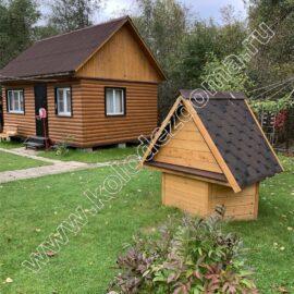 красивый домик для колодца своими руками