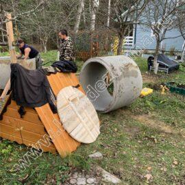 домики для колодца доставка и установка