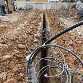 траншея для водопровода из колодца должна быть выкопана с уклоном в сторону дома