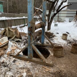 шахта колодца - начало копки