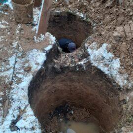 копаем септик - грунтовка высоко