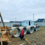 кольца готовы к монтажу в шахте