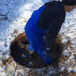 Начинаем копать колодец зимой