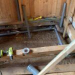 подводка септика к системе канализации под полом внутри дома