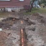 монтаж трубопровода от колодца к дому