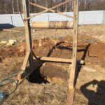 как мы начинаем копать колодцы - шахта и лебедка