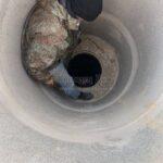 монтаж кессона для из скважины
