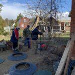 установка 3-х камерного бетонного септика для дома