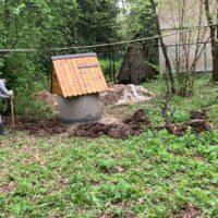 копка траншеи для колодезного водоснабжения