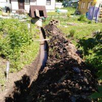 копка траншеи под водопровод из колодца стоимость за 1 погонный метр
