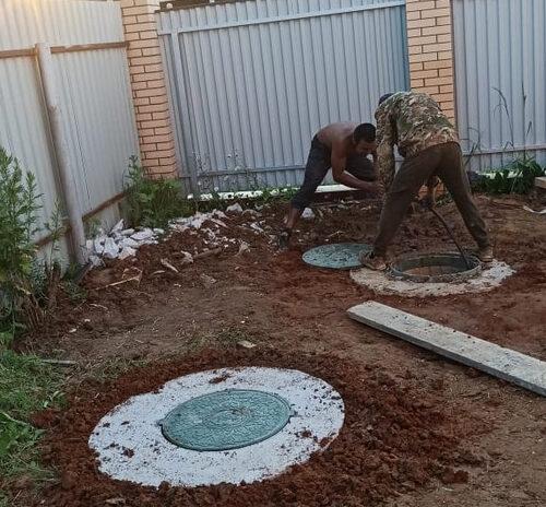 Как устанавливают септики из колец в Александровском районе