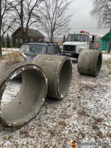 копка колодца зимой