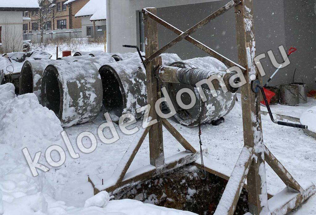 Копаем колодец зимой