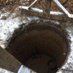 как выглядит шахта колодца в начале копки
