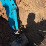 септик топас для дачи - копаем шахту экскаватором