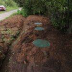 при завершении работ проводится пробный пуск канализации