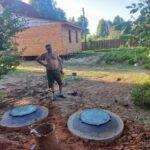 завершение работ по устройству канализации